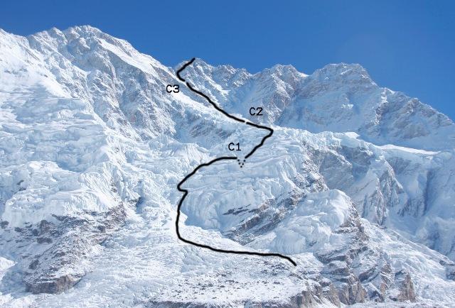 Kangchenjunga Route 2008.jpg
